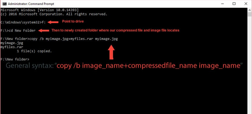 Hiding Files In An Image Using CMD