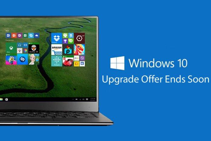 Windows 10 Upgrade Offer Ends Soon