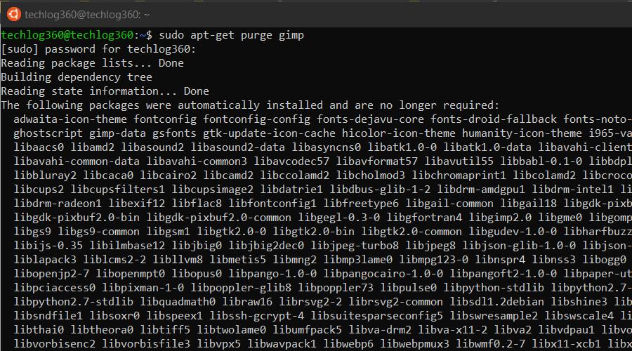 sudo apt-get purge - Basic Ubuntu Commands