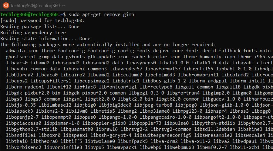 sudo apt-get remove - Basic Ubuntu Commands