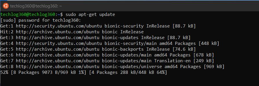 sudo apt-get update - Basic Ubuntu Commands