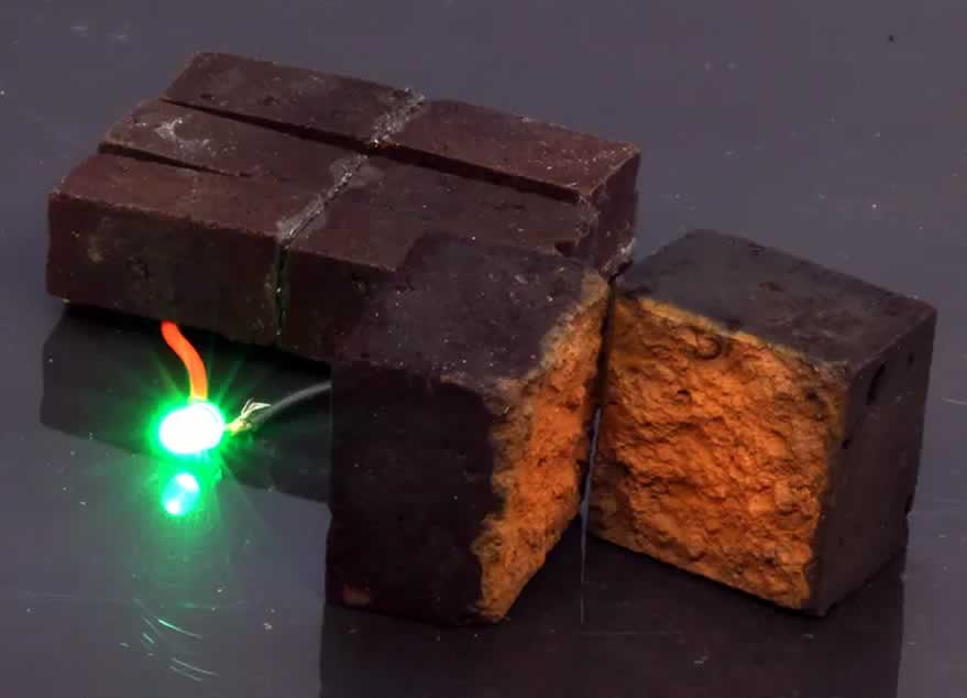 turn typical bricks into batteries